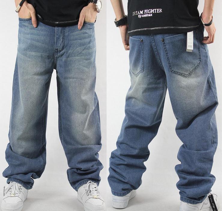 man loose jeans hiphop skateboard jeans baggy pants denim pants hip hop men  ad QEAPLAA