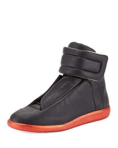 margiela sneakers future high-top sneaker, black/red GFIATOD
