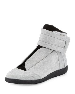 margiela sneakers future menu0027s glitter leather high-top sneakers LRDPCDS