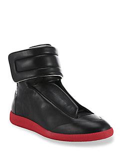 margiela sneakers maison margiela - future hi-top calf leather sneakers GCDFINC