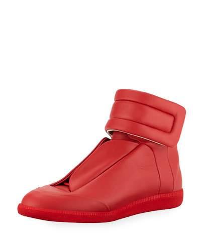 margiela sneakers menu0027s future leather high-top sneaker AHJMOUD