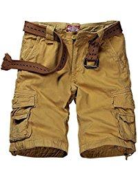 match menu0027s twill cargo shorts GHNBGUO