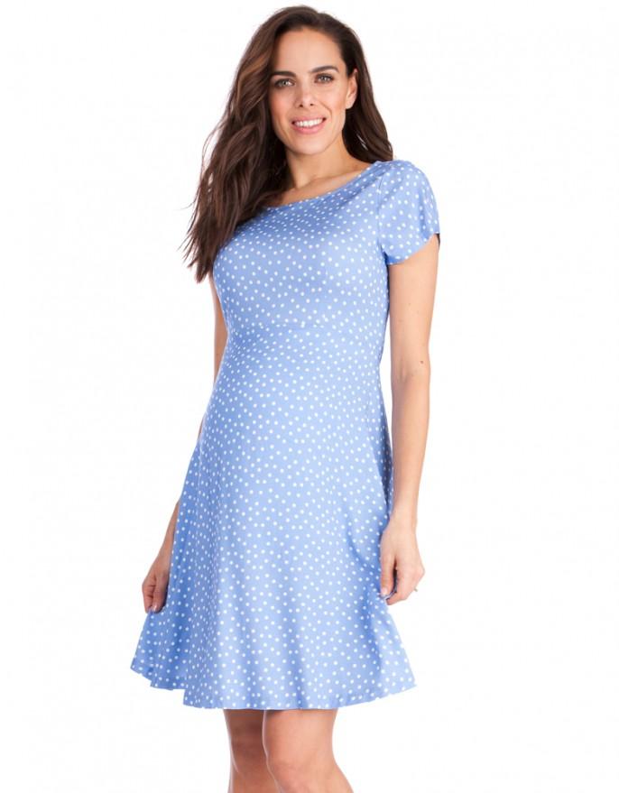 maternity dresses for baby shower blue dot woven jersey maternity dress blue dot woven jersey maternity dress GNVRNSG