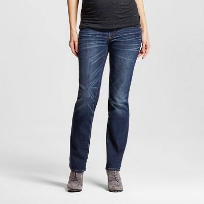 maternity jeans maternity over the belly dark wash bootcut jeans - liz lange® for target MRVQFUZ