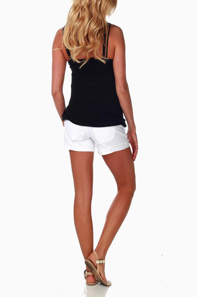 maternity shorts ... white jean shorts ... DKHYIYA