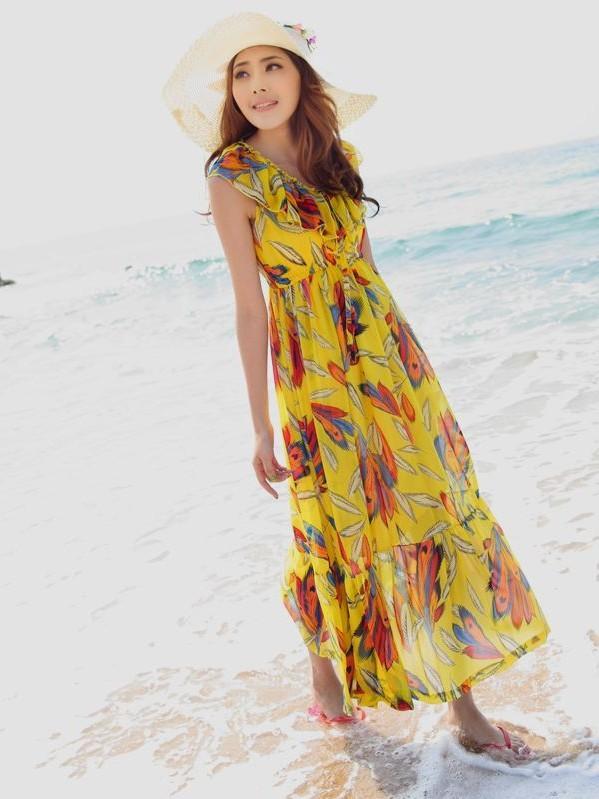 maxi beach dresses LZSMVEF