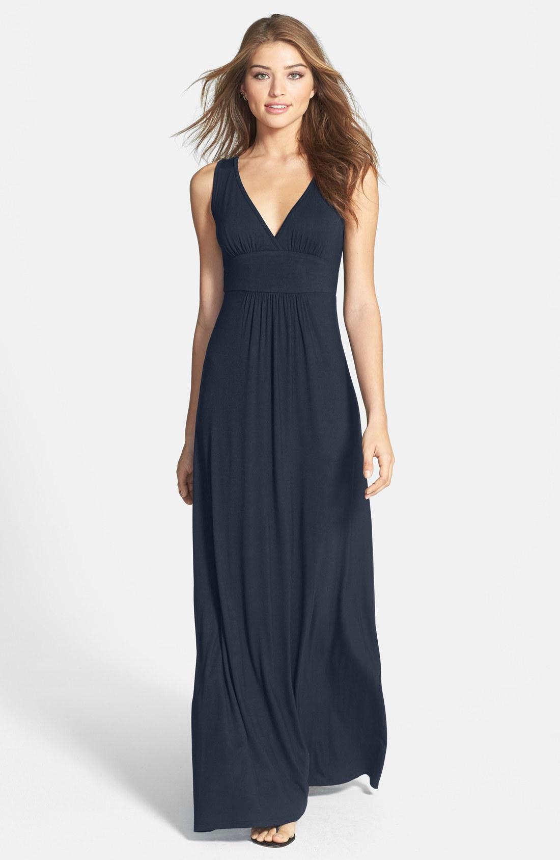 maxi dresses loveappella v-neck jersey maxi dress (regular u0026 petite) | nordstrom AEGLDRD
