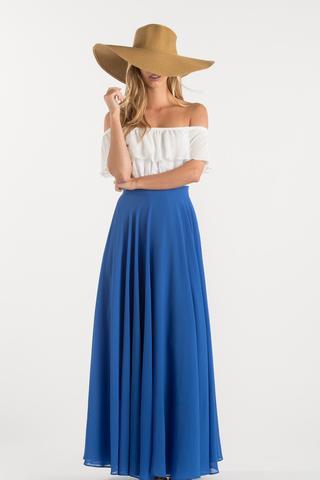 maxi skirts amelia full blue maxi skirt NIIWQFL