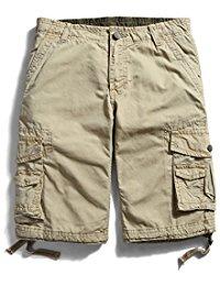 menu0027s cotton loose fit multi pocket cargo shorts ICABKYW