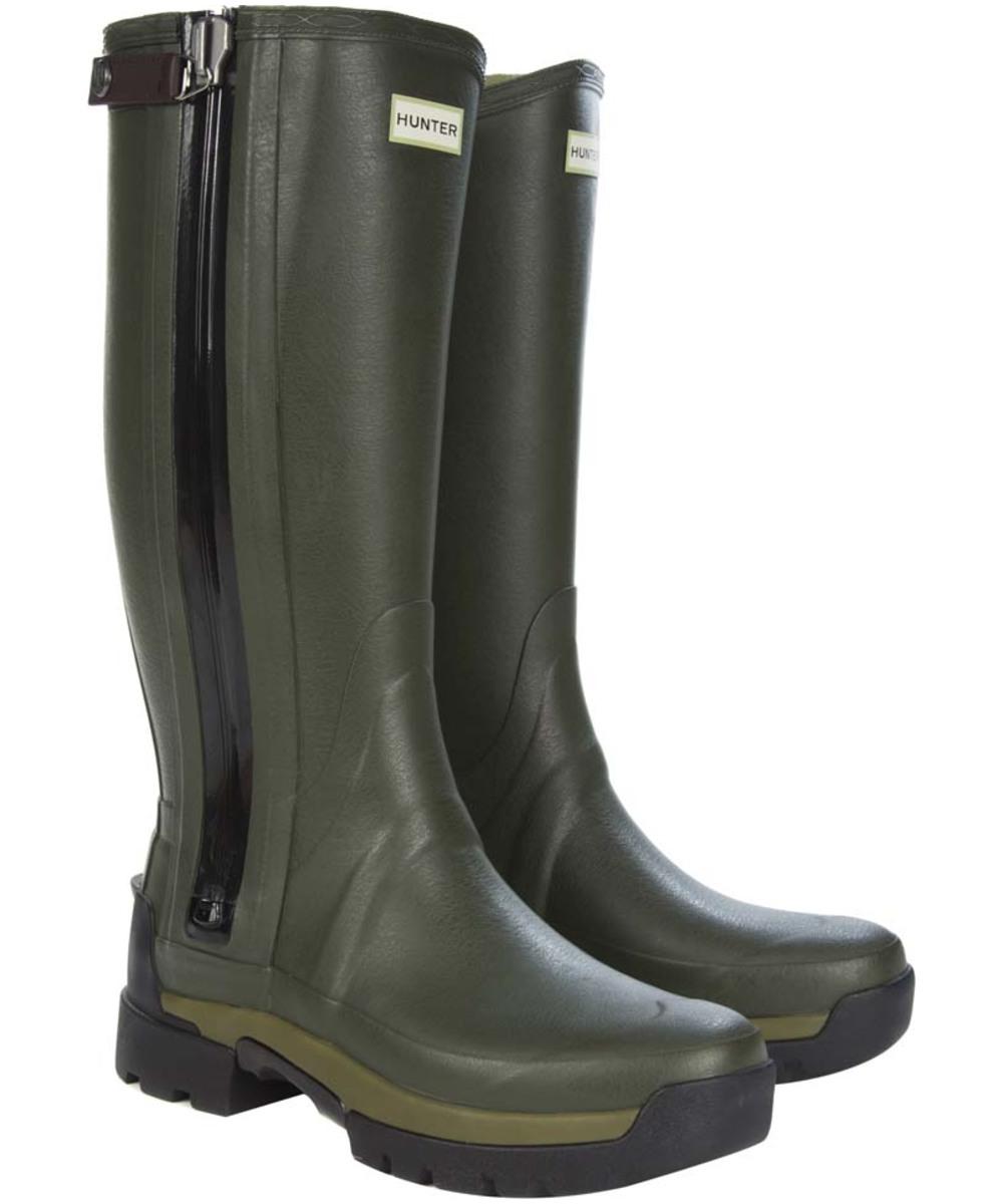 menu0027s hunter field balmoral technical zip wellington boots - dark olive  (rollover to zoom) QGQFUOK