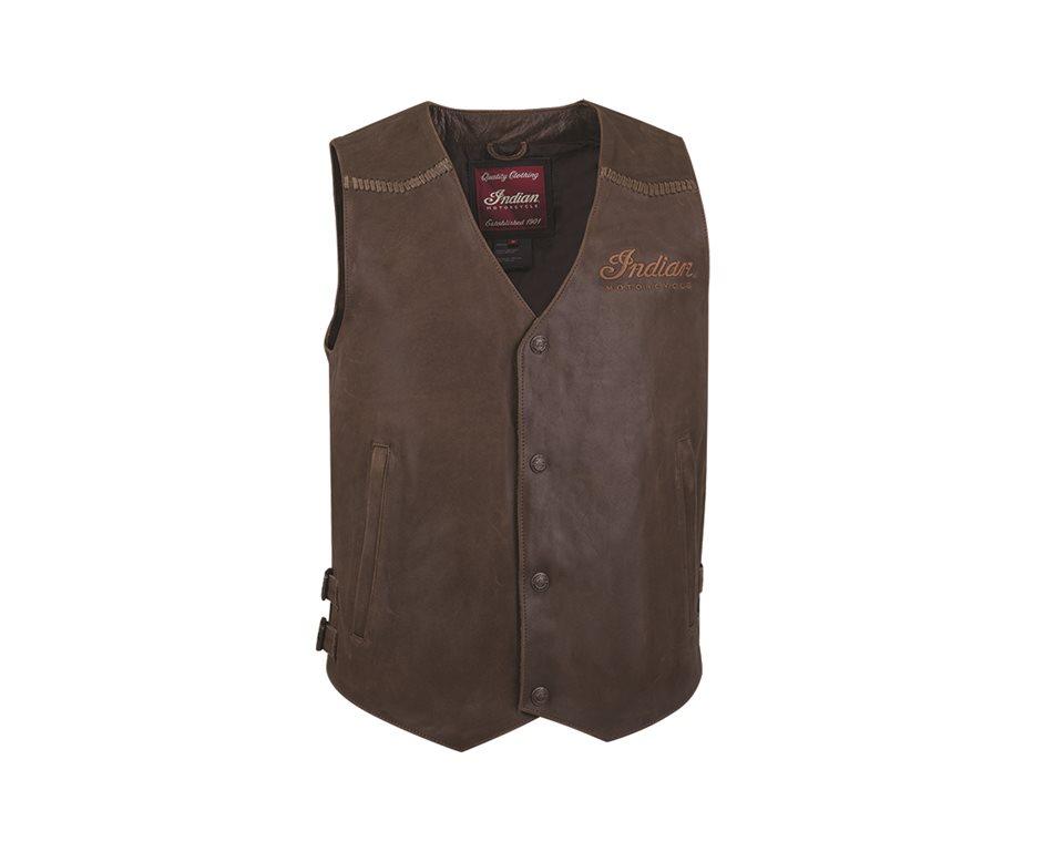 menu0027s indian motorcycle® leather vest - brown leather | indian motorcycle RWVVGHN