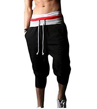 menu0027s jogger sport short baggy pants loose slacks harem trousers KWUVFRF