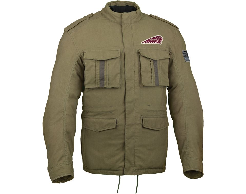 menu0027s military jacket   indian motorcycle IMZHVMU