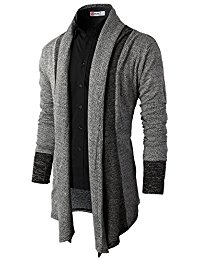 mens cardigans h2h mens casual slim fit knit cardigan with double shawl collar SBAXYRO