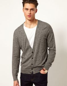 mens cardigans love the asos cardigan on wantering | $25 | mens grey cardigan | mens VBZJCIK