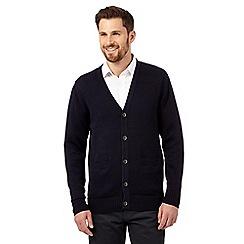 mens cardigans maine new england - navy plain knitted cardigan GRQILSA