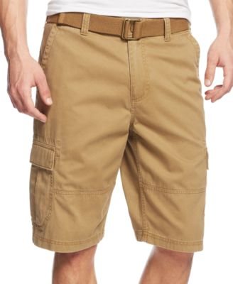 mens cargo shorts american rag menu0027s belted relaxed cargo shorts, only at macyu0027s ICUGTEZ