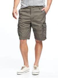 mens cargo shorts canvas cargo shorts for men (10 1/2 WXIEXBI