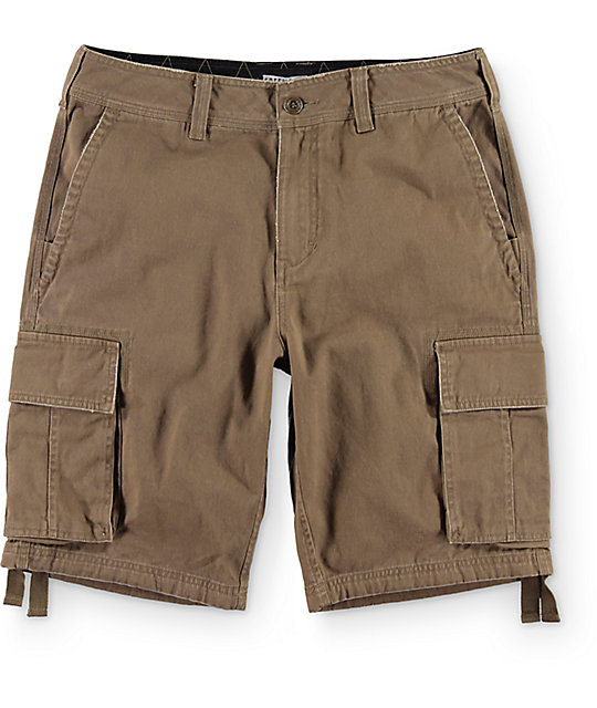 mens cargo shorts free world calamity dark khaki cargo shorts VAXIDAW