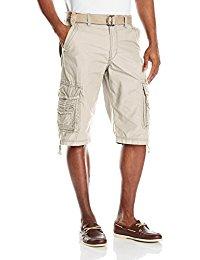 mens cargo shorts unionbay menu0027s cordova belted cargo short messenger - reg and big u0026 tall  sizes XXHGYXH
