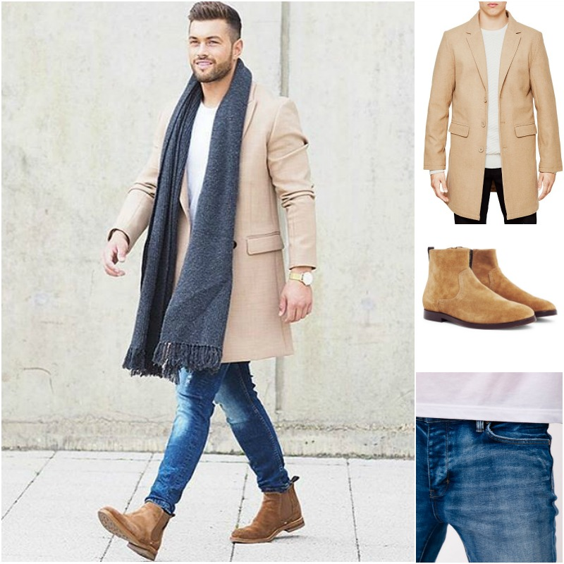 mens chelsea boots shop the look: the idle man - jacket | hudson - boots | neuw - MAQBKIG