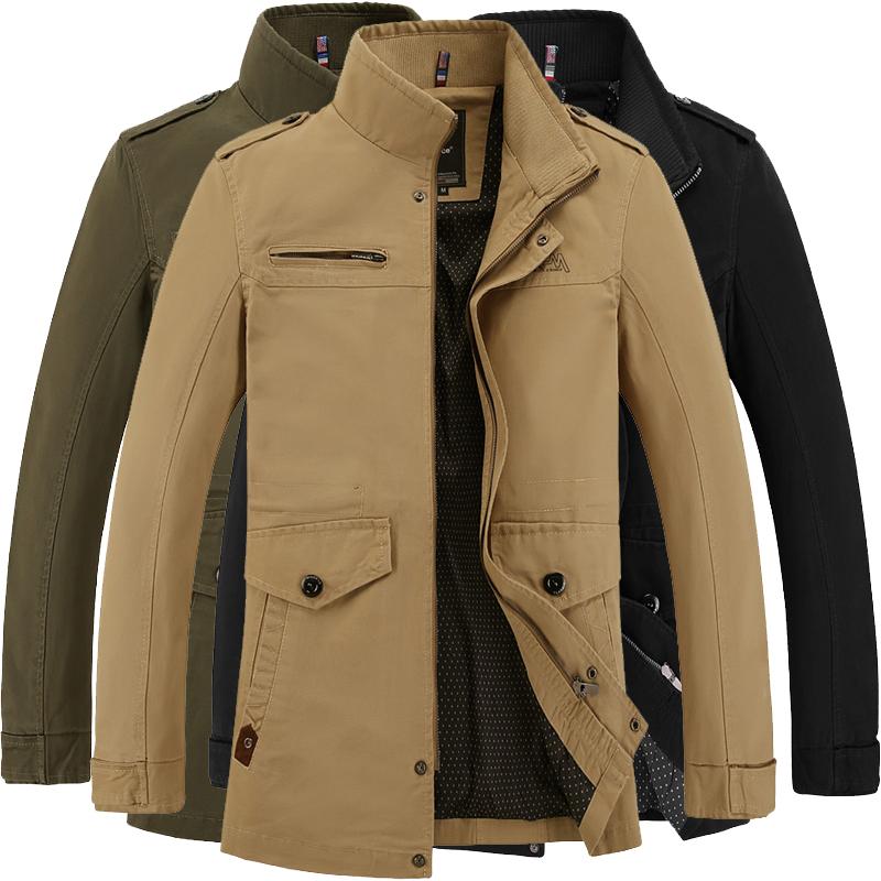 mens coats brand mens jacket jaqueta fashion windbreaker business casual coats men  pure cotton male jackets KDNGZHU