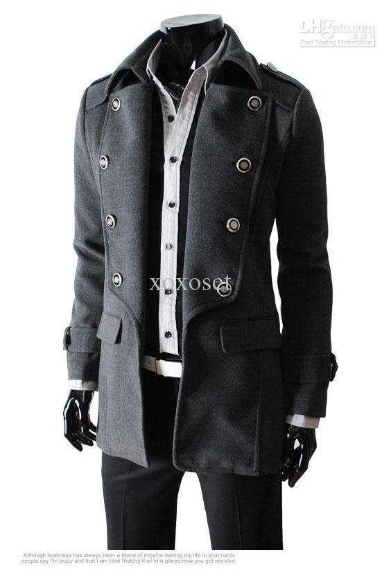mens coats material: woolen size: m/l/xl color: blacku0026grayu0026khaki suitable seasons:  springu0026autumnu0026winter festivals: new yearu0026christmasu0026birthdayu0026halloween NWLGYCN