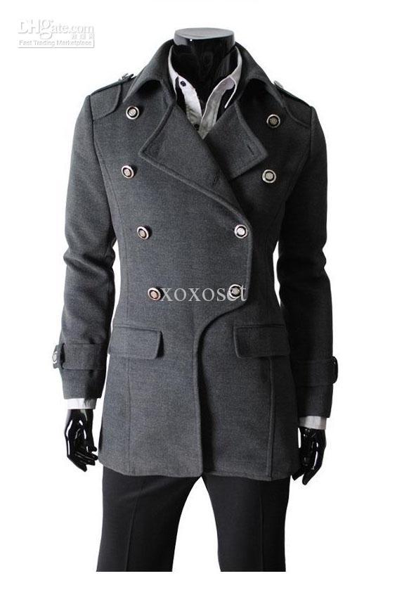 mens coats material: woolen size: m/l/xl color: blacku0026grayu0026khaki suitable seasons:  springu0026autumnu0026winter festivals: new yearu0026christmasu0026birthdayu0026halloween REHTVWB