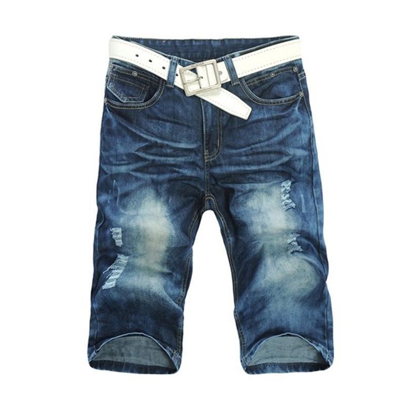 mens denim shorts casual mens jean shorts, menu0027s pants denim shorts cropped trousers/cropped  pants leisure short KSQRWSM