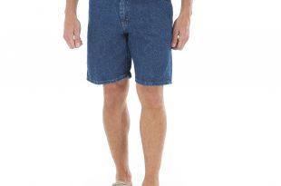 mens denim shorts wrangler - big menu0027s 5-pocket denim shorts - walmart.com CNKSHXA