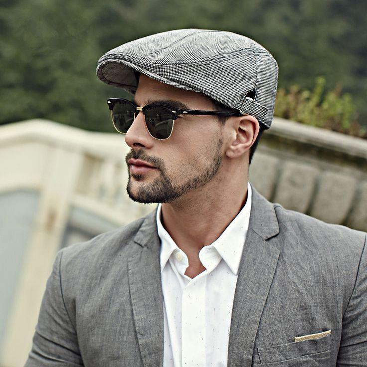 mens flat caps houndstooth flat cap for men british style PVYDAFI