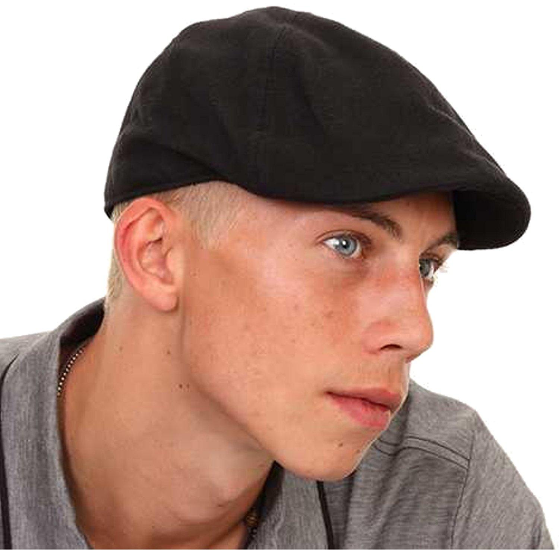 mens flat caps mens/boys black flat cap with preformed peak: amazon.co.uk: shoes u0026 bags AYEIBUO