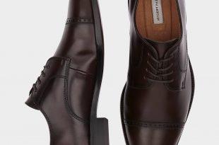 mens formal shoes joseph abboud calvin burgundy cap toe lace up shoes - menu0027s dress shoes   YTCZBRN
