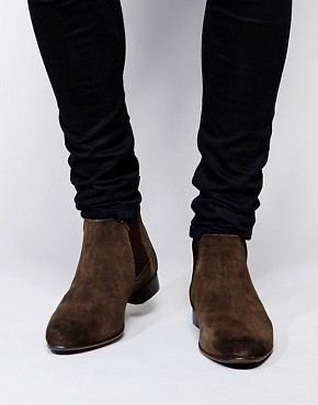 mens military boots asos chelsea boots in suede IHDSDRK