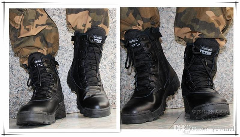 mens military boots menu0027s military boots canvas vamp swat tactical desert combat boots outdoor  shoes for man XTLVSPZ