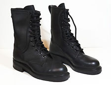 mens military boots new addison army leather combat boots black steel toe - mens 6w JBALIHP