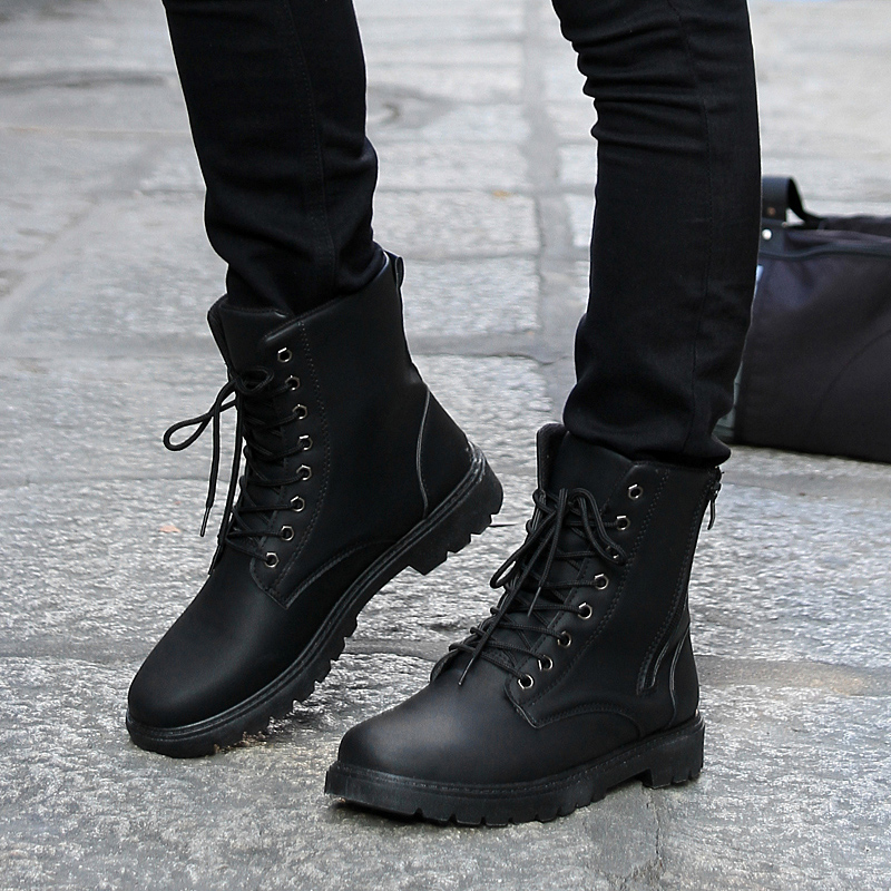 mens military boots new fashion menu0027s short shoes retro combat boots winter england-style boots  @94 YZGEXKI