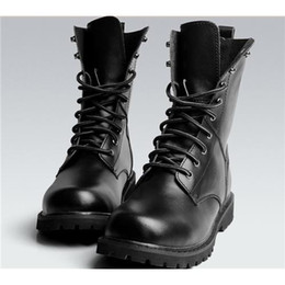 mens military boots us size 5.5-10 new black combat leather lace up mens military ankle boots  shoes VAIRRGH