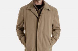 mens raincoat auden microfiber all weather coat with detachable liner EQLMATG