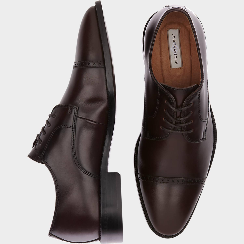 mens shoes joseph abboud calvin burgundy cap toe lace up shoes - menu0027s dress shoes | TKYURSE
