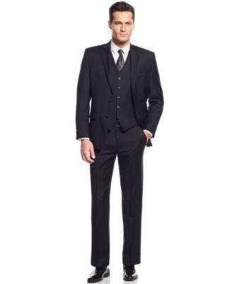 mens suit lauren ralph lauren black solid classic-fit suit separates - suits u0026 suit  separates - DFWSPQZ