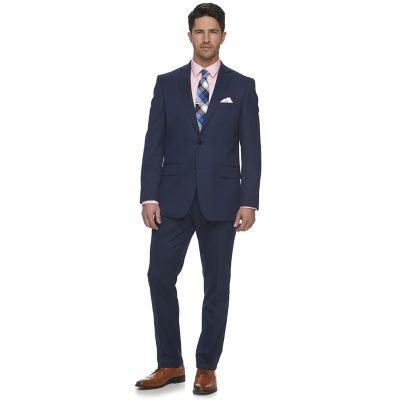 mens suit menu0027s apt. 9® slim-fit stretch blue suit separates QRMVWBX