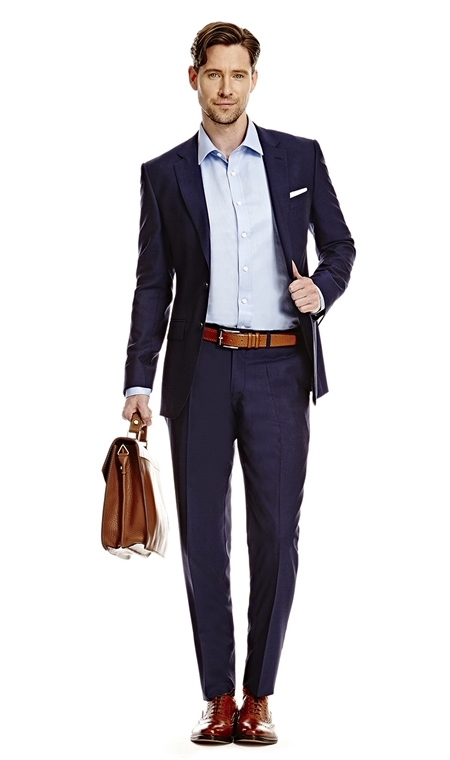 mens suit menu0027s dark navy twill slim fit suit - super 120s wool suit IQAUWDF