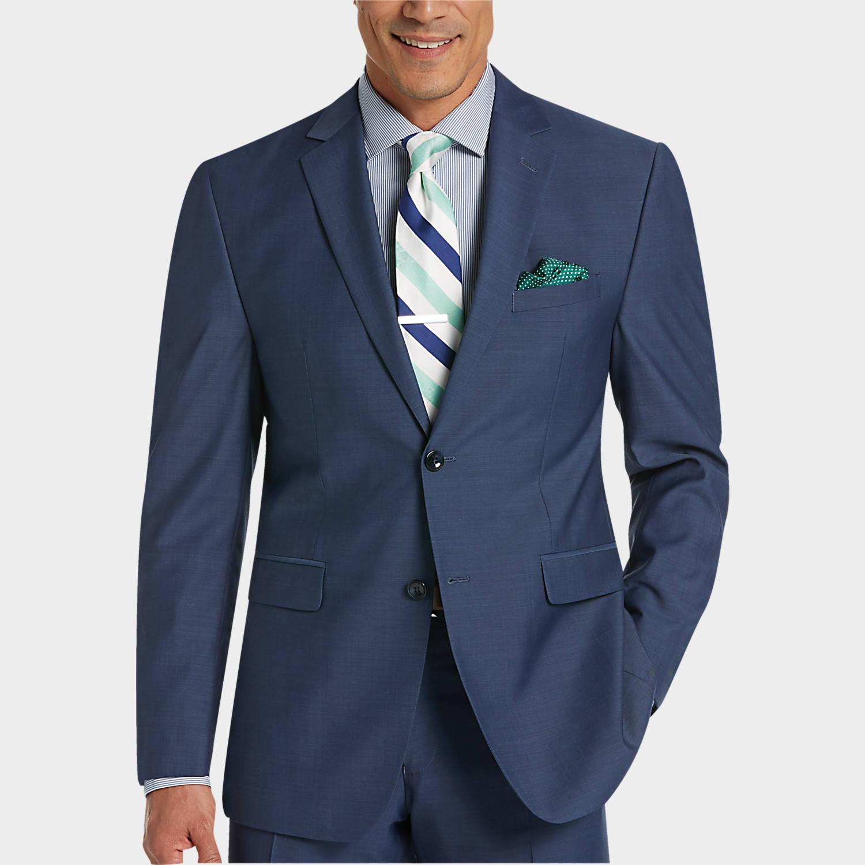 mens suit perry ellis portfolio blue slim fit suit - menu0027s slim fit | menu0027s wearhouse MAMIKTO