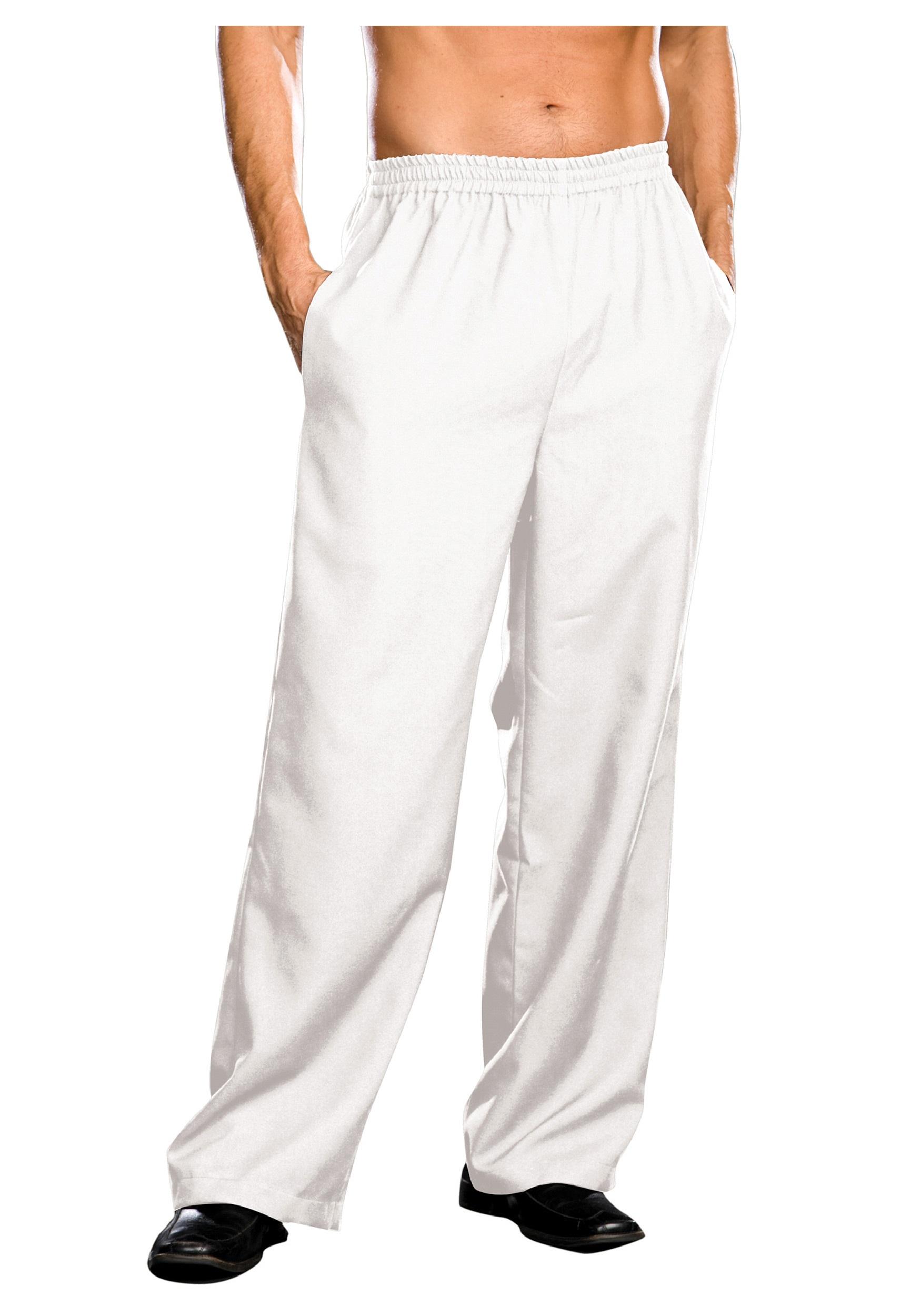 mens white pants EULINDI