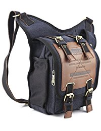 messenger bags for men mens boys vintage canvas shoulder military messenger bag sling school bags  chest military leather FQXETUQ