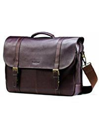 messenger bags for men samsonite colombian leather flap-over laptop messenger bag WNMZTEA