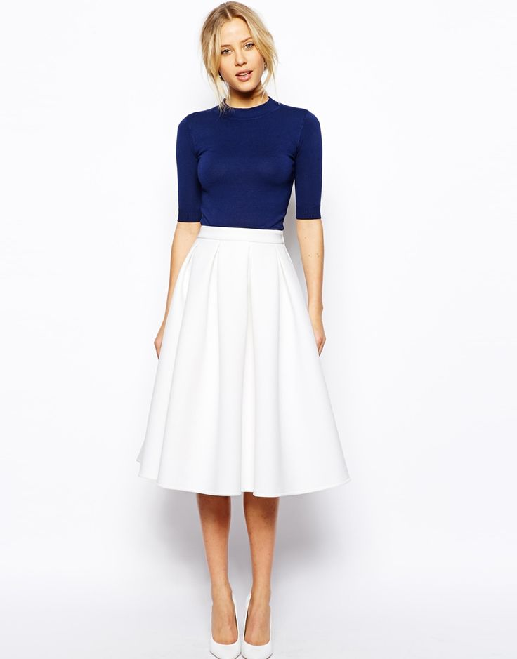 midi skirt 18 work outfits every working woman should have. white midi skirtfull ... QKGMDDU