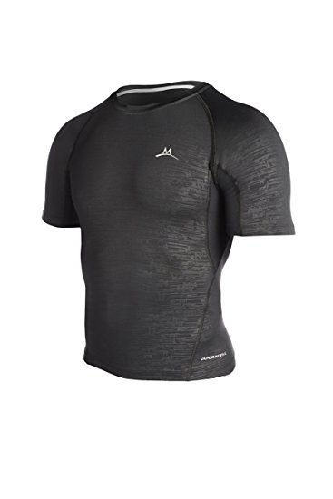 mission menu0027s baselayer compression shirt, black, small ZLBQGVC