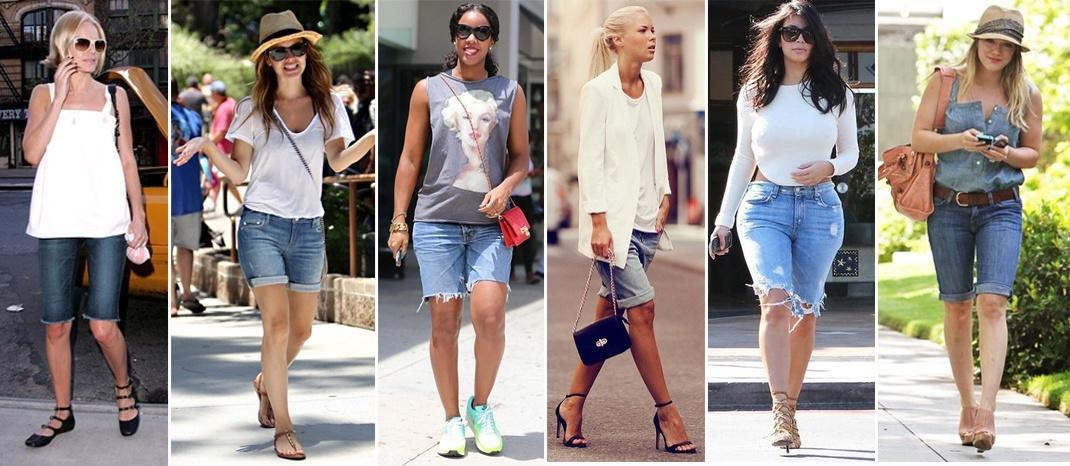 models and celebrities wearing bermuda shorts VXZUVIF